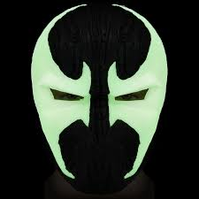glowing eyes halloween prop spawn mask deluxe glowing pvc full head helmet image comics al