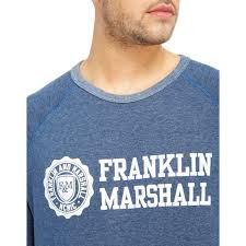 cozy franklin u0026 marshall linear sweatshirt grey franklin