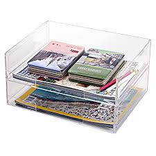 clear acrylic desk organizer deluxe stacking clear acrylic document paper trays desktop