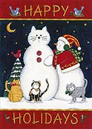amazon com black cat with lights boxed holiday cards greeting