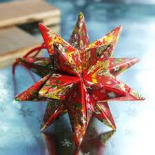 moravian star sphere ornament royal purple origami christmas