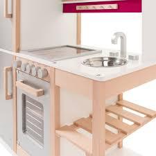 spielküche holz sun 04136 kinderküche natur beere aus holz mit kühlschrank