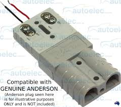 trailer vision 50a amp led anderson plug compatible connector
