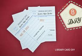 library style save the date diy onefabday com