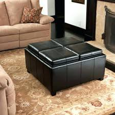 Microsuede Storage Ottoman Outstanding Microfiber Ottoman Black Black Microfiber Storage