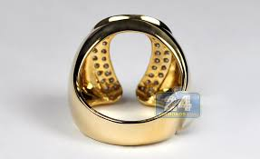 mens old rings images Mens diamond horseshoe luck ring 14k yellow gold 1 06 ct jpg