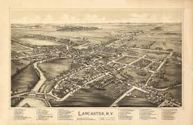 Erie County Map Map Of Historic Map Of Lancaster New York 1892 Erie County