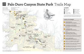 Riverside State Park Trail Map by Palo Duro Canyon State Park Trails Map Side 1 The Portal To