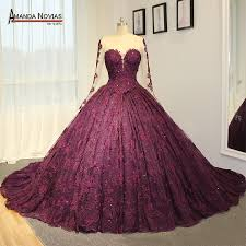 purple wedding dress aliexpress buy amazing high end wedding dress purple lace