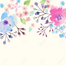 Invitation Card For A Wedding Invitation Card For Wedding With Watercolor Flowers Royalty Free