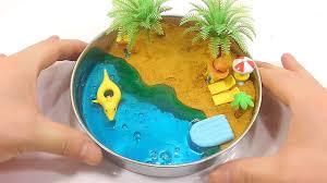 Sand Beach by Diy How To Make U0027slime Gold Kinetic Sand Beach U0027 Learn Colors Jelly