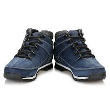 timberland mens hiker boots navy blue euro sprint nubuck ankle
