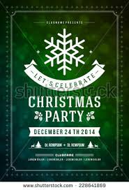 christmas party invitationdesign templateflyerticket setvector