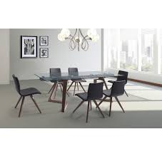 delta extendable dining table white line imports modern manhattan delta extendable dining table delta extendable dining table
