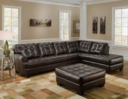 Brown Leather Sofa With Chaise Sofa Leather With Chaise Lounge Large Microfiber Sectional