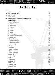 daftar isi jurnal harga satuan bahan bangunan daftar isi