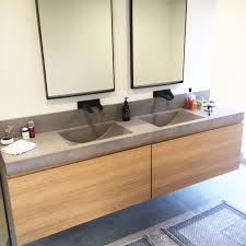 integrated sink vanity top polished concrete vanity top with integrated sink by mitchell bink