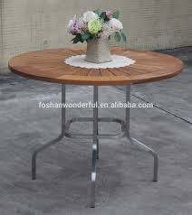 Metal Garden Table Outdoor Furniture Set Teak Stainless Steel Garden Furniture