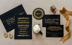 wedding invitations hamilton aerialist press foiled wedding invitations