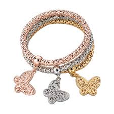 woman charm bracelet images 3 pcs bracelet bangle fashion jewelry gold silver bracelets round jpg