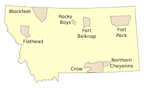 State Map Of Montana by File Montana Indian Reservations Svg Wikimedia Commons