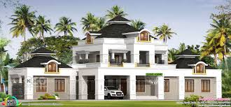 modern mix colonial home in 5143 square feet kerala home design