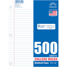 What Is Resume Paper Norcom College Rulet Filler Paper 500 Sheets Walmart Com