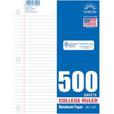 colored writing paper filler paper walmart com walmart com norcom college rulet filler paper 500 sheets