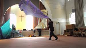 Christian Banner Flags Flag Dancing Training Brighton Movement In Worship Youtube