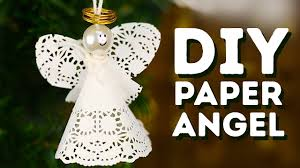 diy paper angels to put on your christmas tree l 5 minute crafts
