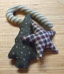 primitive christmas green holiday ornament bowl filler tucks