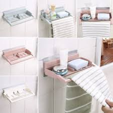 Bathroom Suction Shelves Bathroom Shower Storage Rack Shoo Soap Towel Holder Wall Strong