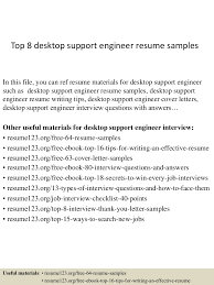Experienced Engineer Resume Resume For Experienced Desktop Support Engineer Resume For Your