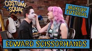 edward scissorhands costume spirit halloween edward scissorhands makeup tutorial diy costume squad edward