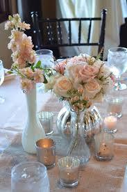 Pink Milk Glass Vase Milk Glass And Mercury Glass Wedding Centerpieces Unique Wedding