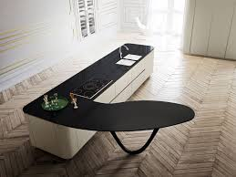 Kitchen Island Worktop by Contemporary Kitchen Design With Sculptural Kitchen Island Worktop