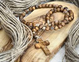 wooden rosaries wood rosary etsy