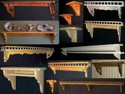 Wood Shelf Gallery Rail by Decorative Wood Shelf Brackets Custom Wood Shelves