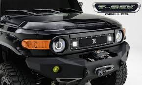 t rex toyota fj cruiser torch series led light grille 2 3