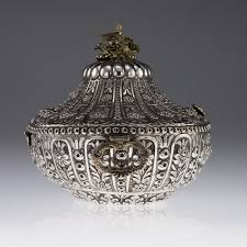 Ottoman Empire Jewelry Pushkin Antiques Antique 19thc Ottoman Empire Solid Silver