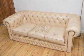 Chesterfield Sofa Used Well Used Cream Leather Chesterfield Sofa In Lewisham London