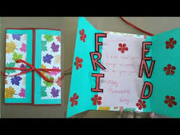 day cards for friends diy friendship card how to make card for friends simple and