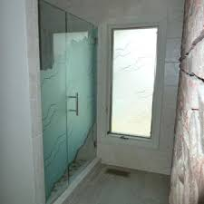 Etched Shower Doors Etched Sandblasted Shower Doors Creative Mirror Shower