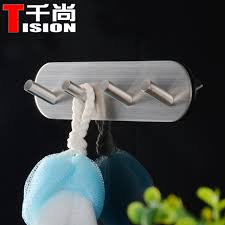 adhesive wall hooks tision bathroom clothes rack self adhesive wall hook holder table
