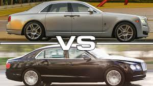 bentley ghost 2016 rolls royce ghost series ii vs bentley flying spur youtube