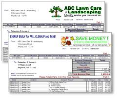 Lawn Maintenance Invoice Template by Landscaping Lawn Invoice Forms