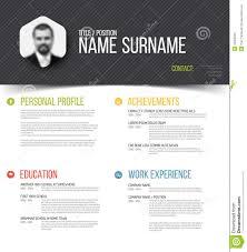 Resume Profile Template Personal Profile Template Stock Vector Image 74186638