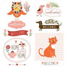 welcome home decor elements u2014 stock vector birdhouse 46246157