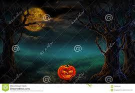 halloween creepy background halloween design forest pumpkins horror background stock