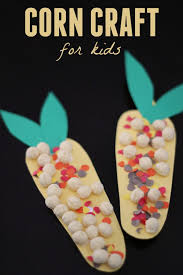 toddler approved textured corn craft for kids